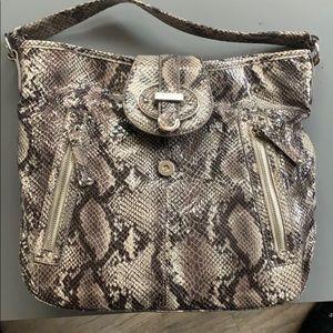 Nine West snakeskin shoulder purse bag